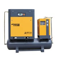 Buy cheap Airhorse hot sale 11kw screw type air compressor with 300L receiver and air dryer product