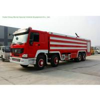Buy cheap Multi Purpose HOWO 8x4 Fire Pumper Truck With Water Tank 24 Ton For Fire Fighting product
