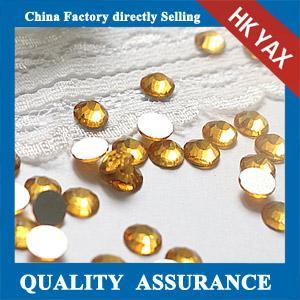 Buy cheap Good Quality Jonquil Round Non Hotfix Crystal Rhinestone, Hotfix Flatback Rhinestone, Wholesale hotfix crystal product