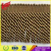 Buy cheap 2017 Factory Direct Hot Sales New Style Brown Color Polyester Bullion Tassel  fringe For Curtain product