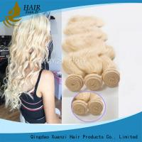 Quality Blonde Brazilian Hair Weave 100% Human Hair , Long Lasting Virgin Remy Hair for sale