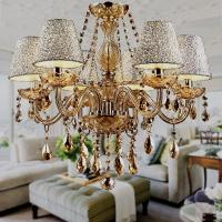 China 2017 Hot Lustre para sala Luxurious European Style Chandelagier 6 Arms Diameter 58cm Living Room Luxury Lamp wholesale
