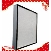 Buy cheap 610x610x69mm High efficiency particulate minipleated Hepa air filters H13 product