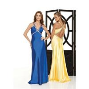 Buy cheap Sexy royal-blue V-neck bridal evening dress  HL-344 product