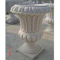 Buy cheap Stone Outdoor Flowerpots, Grey Granite Flower Bed for Decoration product