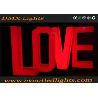 Buy cheap Bright Wedding Led Light Up Letters Love Decoration Environment Friendly product