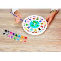 DIY Painting Battery Powered 9  Wall Clock Art And Craft Kits For Children