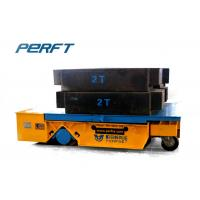 Buy cheap Trackless Handling Bogie Material Transfer Cart , Heavy Duty Plant Trailer product