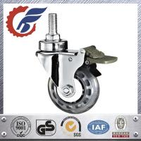 Buy cheap Swivel medical caster with total locking brake,M12 threaded stem mounted. product