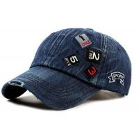 China Blue Cotton Women'S Fitted Baseball Caps , Casual Snapback Hats 6 Panel Style on sale