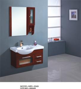 Buy cheap Various shape wooden bathroom furniture cabinets , hardwood bathroom vanity simple Feature product