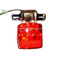 China GN125 LED 12V Tail light Suzuki Motorcycle Parts GN125 12V LED Tail light Red transparent on sale