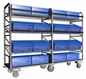 4つの旋回装置の足車が付いている棚の分類、物品取扱いのためのトロリー デッキの合板の版