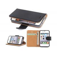 Black Slim Apple iphone Leather Case For Apple iPhone 4 4.8*2.7*0.9 Inches