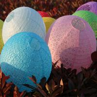 Quality Hollow Out Festival Party Accessories LED Light Paper Lantern Lamp For Wedding for sale