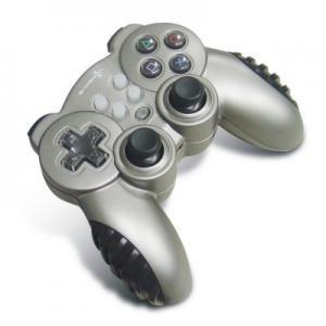 Pequeño regulador inalámbrico de la palanca de mando de la PC, 12 vibración Gamepad del doble de AXIS del botón 4