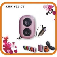 Buy cheap 2AAA Battery DC 3.0V Powerful Portable Speakers AMK-032-02   product