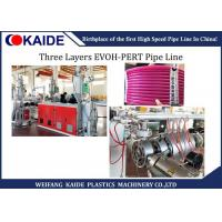 China 16mm-32mm PE Pipe Making Machine 3 Layers EVOH PERT Oxygen Barrier Pipe Line on sale