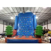 Buy cheap Amusement Park Inflatable Rock Climbing Wall Sports Games Straight inflatable climb wall with the pine trees product