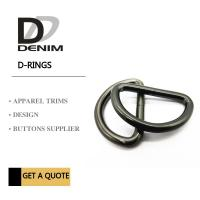 Buy cheap Black Ancient Silver metal d rings Clothing Buckles Trims Standard Size 1.5cm ~ 5cm product