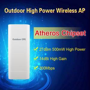 Buy cheap Alta ganancia al aire libre IP65 del poder más elevado 14dBi de la radio 2.4G AP/CPE/Bridge del chipset de Atheros 500mW product