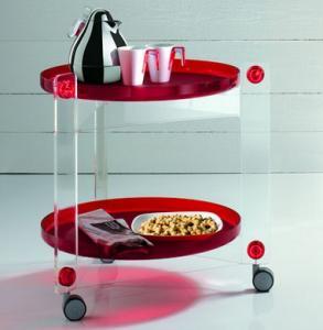 Buy cheap High Strength Perspex Restaurant Trolley/Acrylic Plexiglass Dining Car product