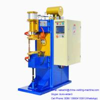 Buy cheap MF-50KVA Factory Price Small Size Inverter DC Spot Welder with save energy transformer, blue and yellow color product