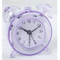 Quality ET206 crystal table clock of twin bell clock for sale