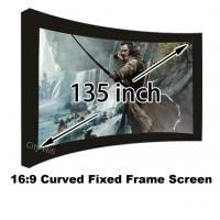 """Great Design 135"""" Curved Fixed Frame DIY Projector Screens 16 To 9 With 80mm Black Velevt"""