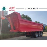 Buy cheap 27 Cubic Meter 3 Axle Tipper Trailer , Red 40 Tons Tipping Trailer Long Life from wholesalers