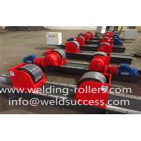 Buy cheap 10T Bolt Adjustment Tank Turning Rolls Conventional Welding Rotator With PU Wheel from wholesalers
