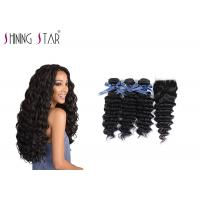 Buy cheap Deep Curly Unprocessed Remy Hair Extensions Weave For Black Woman 350g product