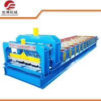 Buy cheap Trapezoidal Steel step tile roll forming machine With Press molding machine product