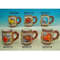 Buy cheap Colorful Coffee Custom Ceramic Mugs With Relief Sea Animals 12. X 8 X 11 Cm product