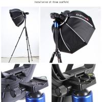 Buy cheap TRIOPO 55CM Foldable Octagonal Softbox with Speedring for Speedlite with black and white color product