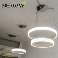 China Round Ring Modern Pendant Lamp round design contemporary light LED chandelier light with smd2835 on sale