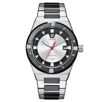 Buy cheap Silver Automatic Mens Wrist Watches , Stainless Steel Waterproof Automatic Watch product