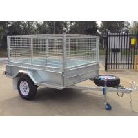 Buy cheap Heavy Duty Hot Dipped Galvanized Caged Trailer Single Axle product