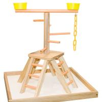 Buy cheap wooden table top bird stands,for sun conures and cockatiel product