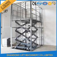 Buy cheap 1T 3M Electric Cargo Lift / Hydraulic Scissor Lift 1000kg Lift Capacity product