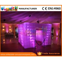 China LED Inflatable Party Tent PVC Coated Nylon Enclosure Inflatable Photo Booth on sale