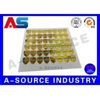 China Gold Security Anti Counterfeiting Custom Hologram Sticker With Serial Number / scratch overlay on sale