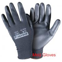 Buy cheap hot sell 13Gauge black pu coated gloves nylon pu safety gloves product
