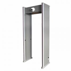 Buy cheap walk through temperature detection door Metal detection security door with thermal imaging camera metal detect door gate product