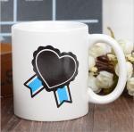 Buy cheap Heart Morph Eco Friendly Mugs , Heating Color Change Magic Mug Printing product