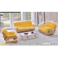 Buy cheap 1+2+3 Combination Genuine Leather Reclining Sofa Bed LS621 product