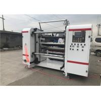 Central Surface Paper Slitting And Rewinding Machine , Film Slitting Machine Servo Motor Controlled