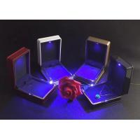 Buy cheap Easily Cleaning Jewelry Plastic Box Hot Stamping Logo Printed With LED Light product