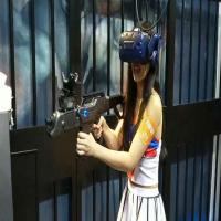 Buy cheap Black Color Battlegrounds Roaming Vr Arcade Machines / VR Shooting Simulator from wholesalers