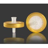 Buy cheap 13mm Sterile Disposable Syringe Filter With PP Prefilter , Low Extractable Levels product